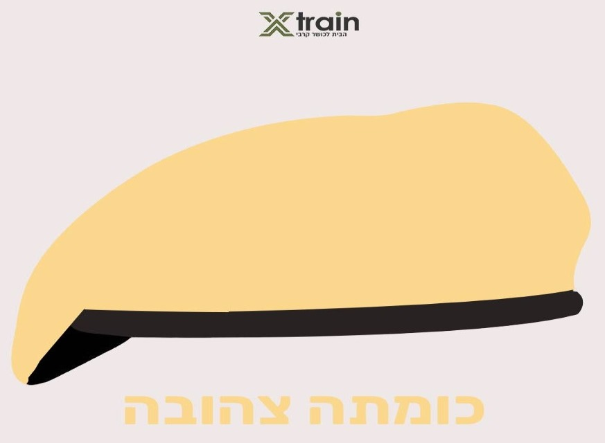 כומתה איסוף קרבי בצבע צהוב חול